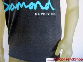 Diamond Supply Co Charcoal Gray Tank Top Mens Shirt Skate Size XL $30