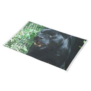 Black Panther Cat Placemat