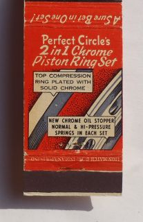 Matchbook Perfect Circle Piston Rings Sidles Co. Phone 154 McCook NE