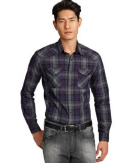 Lucky Brand Jeans Shirt, Monterey Western Plaid Shirt   Mens Casual