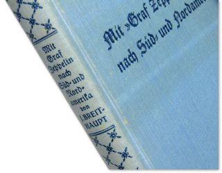 LZ 127 Graf Zeppelin to South North America Brazil German Book Blimp