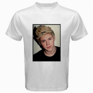 Niall James Horan One Direction Front Back Custom White T Shirt s M L