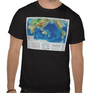 World Map of Tsunami Ocean Wave Events Tshirts