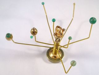 Miniature Medieval Movable Orrery OOAK Dollhouse Mini Handmade Gold