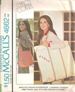 McCalls 4662 Garment Bag Travel Bag New Pattern