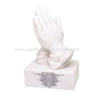 The Lords Prayer Statue Praying Hands Figurine Desktop Paperweight