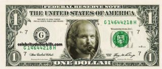 Phish Band Set of 5 Celebrity Dollar Bill Uncirculated Mint US