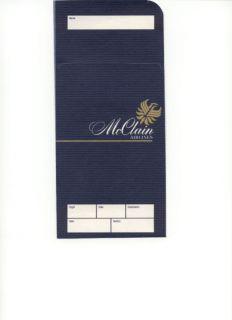 McClain Airlines Ticket Jacket Mint 1986 Phoenix Chicago Los Angeles