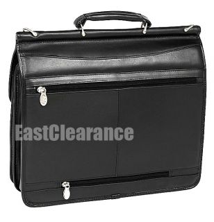 New McKlein USA Halsted Leather 15 4 Laptop Business Case $280 00