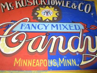 1920s Artwork Painting for Mckusick Towle Candy Store Sign