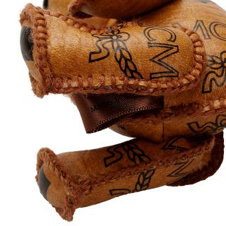 MCM Rabbit Cognac Visetos Key Chain Holder Ring Hand Made New