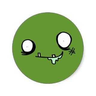 Funny Cartoon Zombie Face Buttons