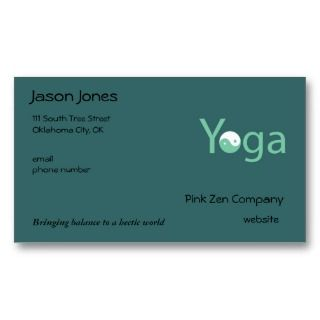 Yin Yang Yoga Business Card