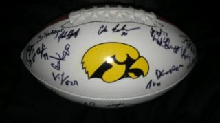 2011 Iowa Hawkeyes Team Signed Football Proof 30 Sigs