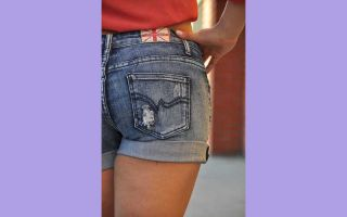 Sexy Women Shorts Light Blue Sz SML Fast Shipping Destroyed Details
