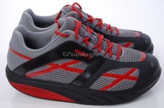 MBT Grey Black Red Stripe Men Sport Shoes 11 5M Free SH