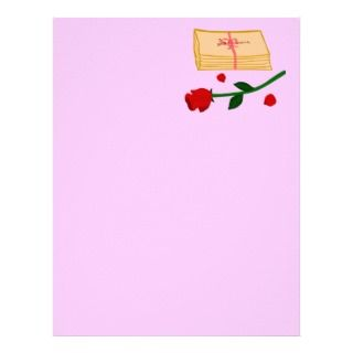 Romantic Love Letters Custom Letterhead