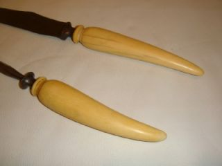 Antique Faux Ivory Knife and Sharpener Meat Carving Set No Reserve