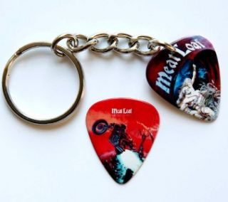 Meat Loaf Guitar Pick Keyring Two Sided Matching Pick