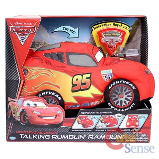 Disney Pixar Cars Lightning McQueen Talking Plush Doll Rumblin