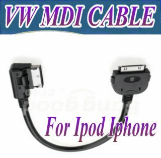 VW RCD510 RCD310 RNS510 Media in MDI Interface Adapter Cable for iPod