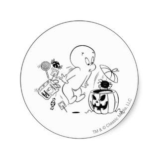 Casper Halloween Spider Scare Stickers