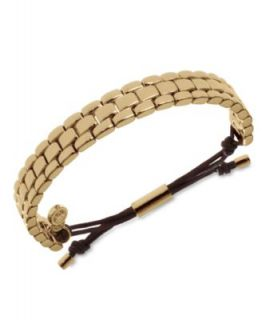Michael Kors Bracelet, Gold Tone Bead Fireball Stretch Bracelet
