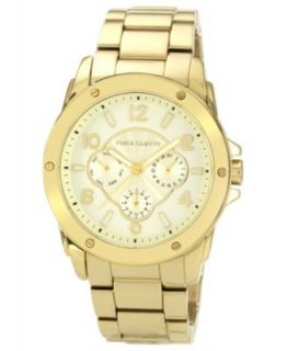 Vince Camuto Watch, Womens Gold Tone Pyramid Link Covered Bracelet