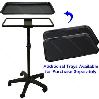 Mayo Style Black Steel Tray Doctor Dentist Medical Tattoo Spa Salon