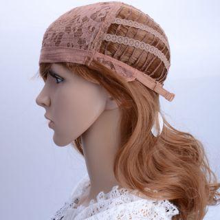 Fashion Cosplay Ladies 22 Wig Medium Curly Hair Golden Yellow