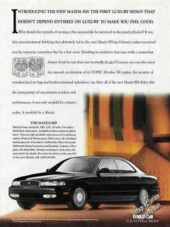 1992 Mazda 929 Beautiful Photo Collectible Car Ad