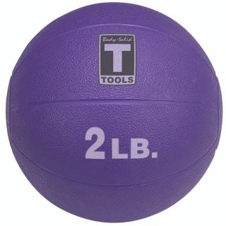 New Body Solid Tool 2 lb Weighted Medicine Ball Purple