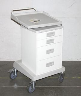 Force Modular 4 Drawer Mobile Health Care Medical Cart 6450TD
