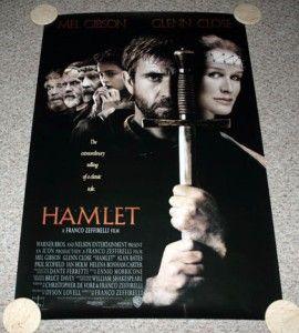 Hamlet Poster One Sheet Mel Gibson Franco Zeffirelli