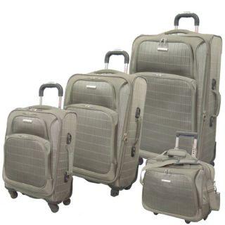 Mcbrine Luggage Vivanti Series 4 Piece Luggage Set Khaki A901 4 Ki