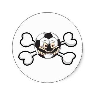 Angry soccer ball Skull and Crossbones Sicker