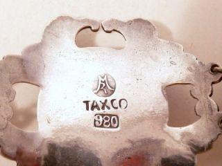 Vintage Rafael Melendez Taxco Sterling Malachite BLet