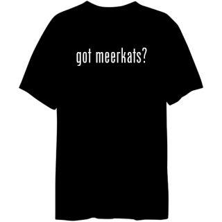 Got Meerkats Animals Mens T Shirt Black