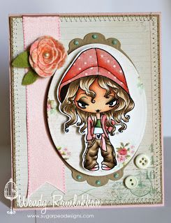 Red hat greeting rubber stamp arts crafts sewing for Rubber stamps arts and crafts