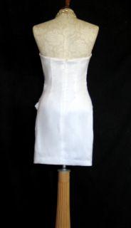 Jessica McClintock 54303 White Taffeta Dress Size 6