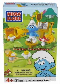 Mega Blocks Smurf Building Blocks Playset Harmony Smurf