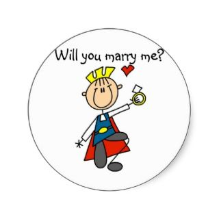 Prince Charming Will You Marry Me Sticker
