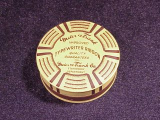 Vintage Meier and Frank Department Store Typewriter Ribbon Tin