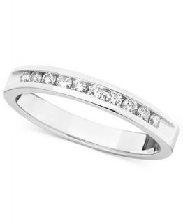 Diamond Ring, 14k White Gold Diamond Certified Diamond Band (1/4 ct. t