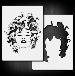 Medusa B Airbrush Stencil Template Paint Airsick