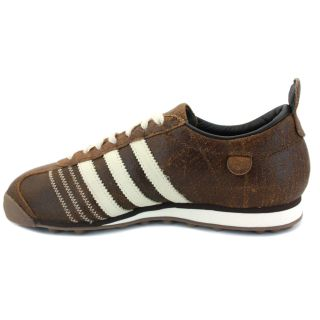 Adidas Chile 62 Mens Laced 3 Stripe Trainers Coffee