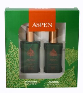 New Aspen Cologne for Men by Coty Aftershave Cologne Gift Set