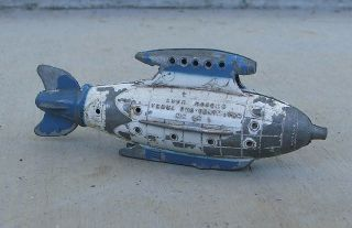 Vintage Metal Tootsie Toy Buck Rogers Venus Duo Destroyer Space Ship