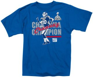 Victor Cruz Blue Reebok New York Giants Cha Cha Champion T Shirt