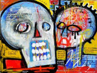 Outsider Skull Folk Art Brut Christian Mengele Deros